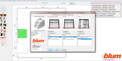 Blum 39 S Dynamic Space Launching On Articad
